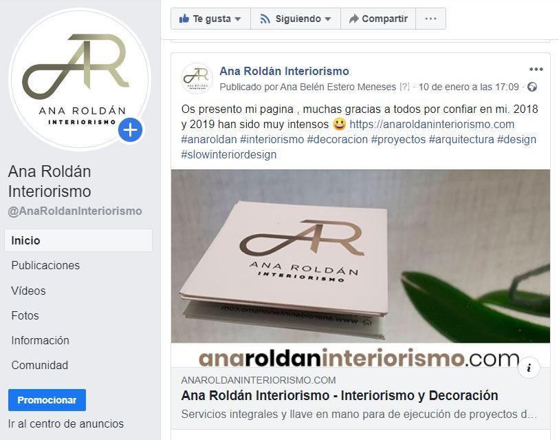 Facebook Ana Roldán Interiorismo