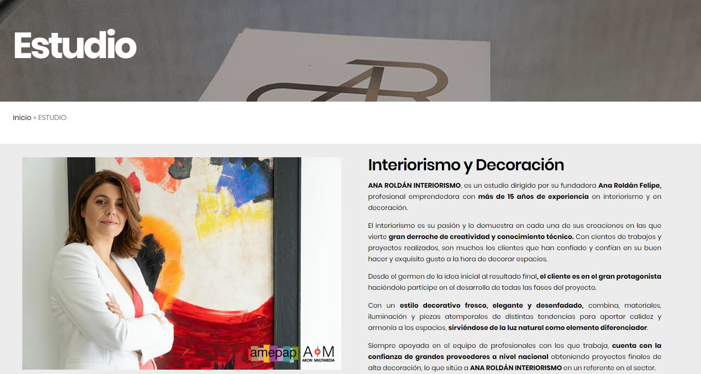 Web Ana Roldán Interiorismo